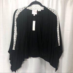 94ba9613b030f6 NWT Romeo   Juliet Couture black lace kimono